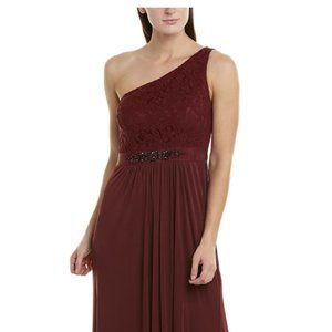 ADRIANNA PAPELL One Shoulder Lace Dress SZ 6